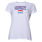 Luxembourg Women's Football T-Shirt (White)