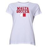 Malta Women's Soccer T-Shirt (White)