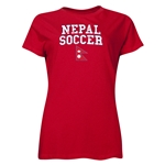 Nepal Women's Soccer T-Shirt (Red)