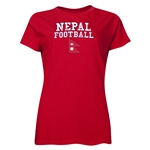 Nepal Women's Football T-Shirt (Red)