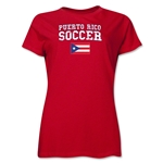 Puerto Rico Women's Soccer T-Shirt (Red)
