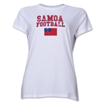Samoa Women's Football T-Shirt (White)