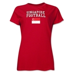 Singapore Women's Football T-Shirt (Red)