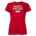 Tahiti Women's Soccer T-Shirt (Red)