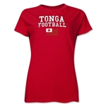 Tonga Women's Football T-Shirt (Red)