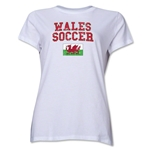 Wales Women's Soccer T-Shirt (White)