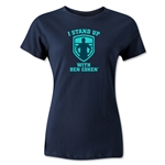 I Stand Up with Ben Cohen Navy Women's Tee