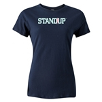 StandUp Sky Blue Logo Women's T-Shirt (Navy)