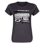 Swansea City Women's T-Shirt (Dark Gray)