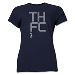 Tottenham Pixel Graphic Women's T-Shirt (Navy)