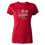 UEFA Champions League Winners Womens T-Shirt (Red)