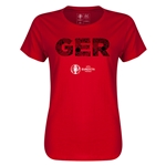 Germany Euro 2016 Elements Womens T-Shirt (Red)