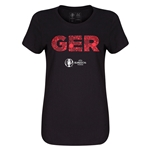 Germany Euro 2016 Elements Womens T-Shirt (Black)
