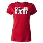England Women's Supporter Rugby T-Shirt (Red)