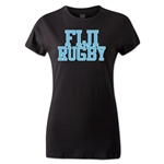 Fiji Women's Supporter Rugby T-Shirt (Black)