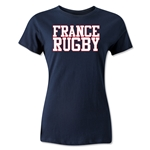France Women's Supporter Rugby T-Shirt (Navy)