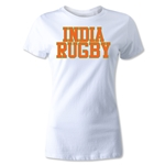 India Women's Supporter Rugby T-Shirt (White)