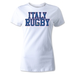 Italy Women's Supporter Rugby T-Shirt (White)
