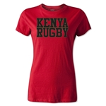 Kenya Women's Supporter Rugby T-Shirt (Red)