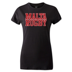 Malta Women's Supporter Rugby T-Shirt (Black)