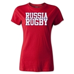 Russia Women's Supporter Rugby T-Shirt (Red)