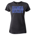 Samoa Women's Supporter Rugby T-Shirt (Dark Gray)