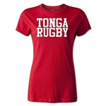 Tonga Women's Supporter Rugby T-Shirt (Red)