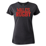 Wales Women's Supporter Rugby T-Shirt (Dark Gray)