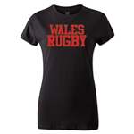 Wales Women's Supporter Rugby T-Shirt (Black)