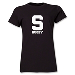 Michigan State University Rugby Women's T-Shirt (Black/Solid Logo)