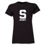 Michigan State University Rugby Women's T-Shirt (Black/Faded Logo)