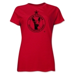 Xolos de Tijuana Distressed Women's T-Shirt (Red)