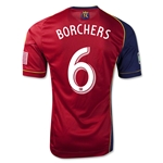 Real Salt Lake 2013 BORCHERS Authentic Primary Soccer Jersey