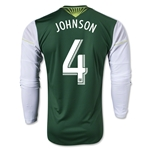 Portland Timbers 2014 JOHNSON LS Authentic Primary Soccer Jersey