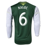Portland Timbers 2014 NAGBE LS Authentic Primary Soccer Jersey