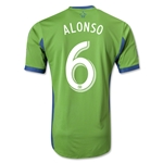 Seattle Sounders FC 2014 ALONSO Authentic Primary Soccer Jersey