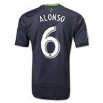 Seattle Sounders FC 2013 ALONSO Authentic Secondary Soccer Jersey