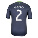 Seattle Sounders 2014 DEMPSEY Authentic Secondary Soccer Jersey
