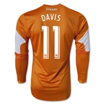 Houston Dynamo 2013 DAVIS LS Authentic Primary Soccer Jersey