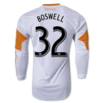 Houston Dynamo 2013 BOSWELL LS Authentic Secondary Soccer Jersey