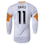Houston Dynamo 2013 DAVIS LS Authentic Secondary Soccer Jersey