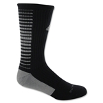 adidas Team Speed Vertical Crew Sock (Blk/Grey)