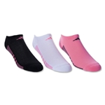 adidas Women's Superlite ClimaCool II 3-Pack No Show Sock (Bk/Red/Wht)