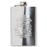 Liverpool Chrome 4 oz. Hip Flask