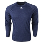 adidas ClimaLite Long Sleeve Logo T-Shirt (Navy)