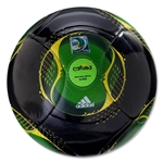adidas FIFA Confederations Cup 2013 Glider Ball (Black/Vivid Yellow)