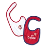 Arsenal 12/13 2 Piece Baby Bib Set
