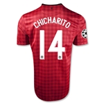 Manchester United 12/13 CHICHARITO UCL Home Soccer Jersey