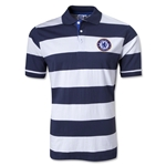 Chelsea Striped Polo (White)