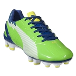 PUMA Women's evoSPEED 3 FG (Jasmine Green/White/Monaco Blue/Fluo Yellow)